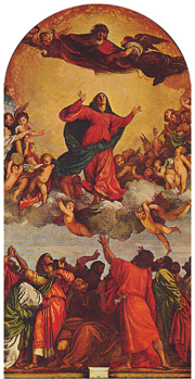 """The Assumption of the Virgin"" by Titian, used on the single's cover (click to view)"
